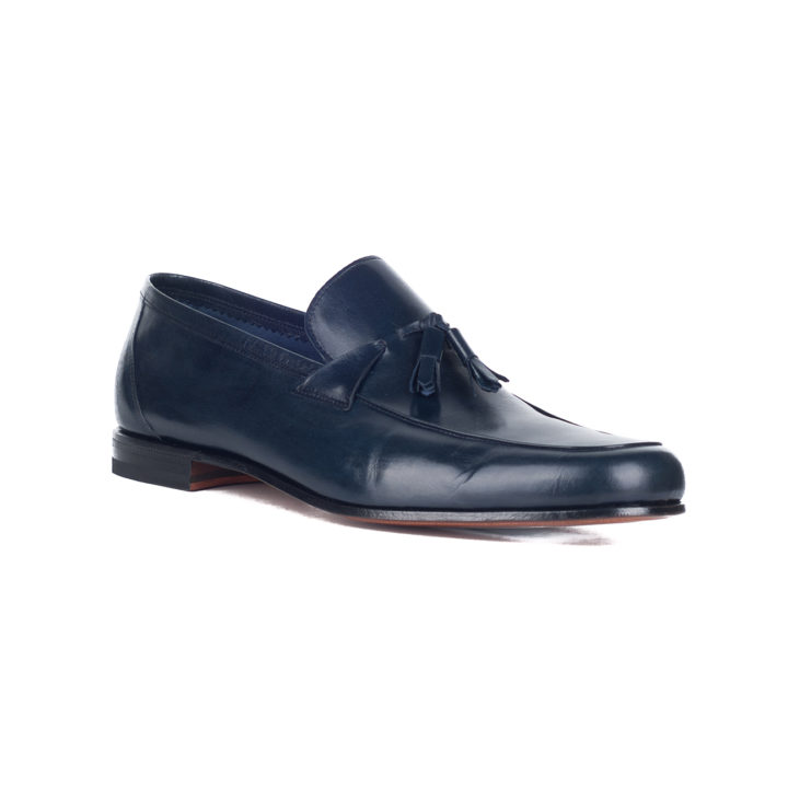 zapato azul hombre calce