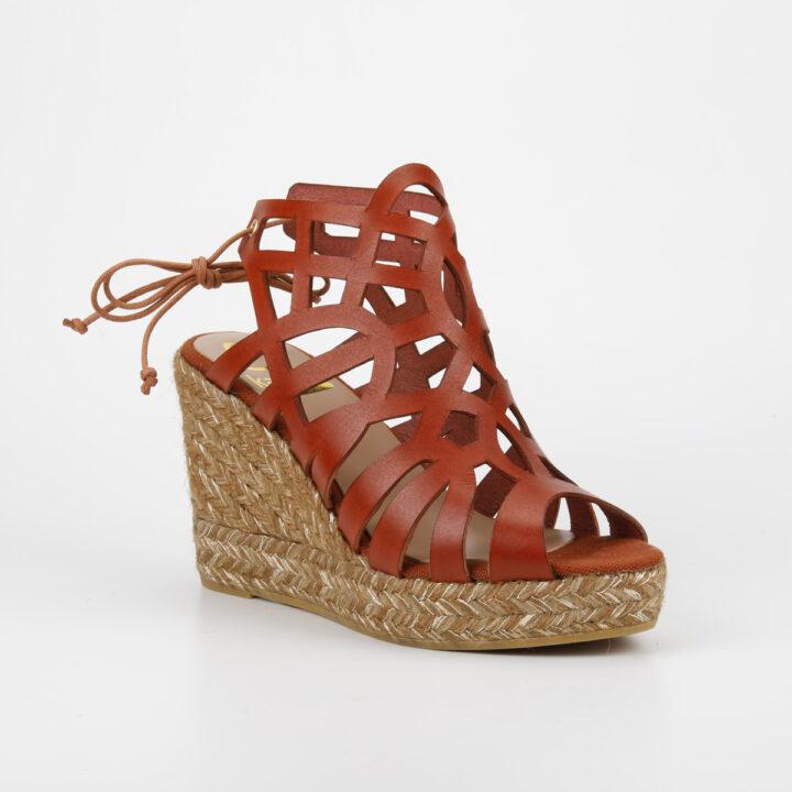 sandalia mujer roja
